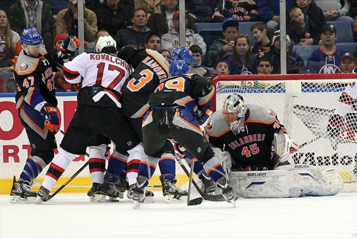 Pictured: Ineffective Devils offense.  Mandatory Credit: Anthony Gruppuso-US PRESSWIRE