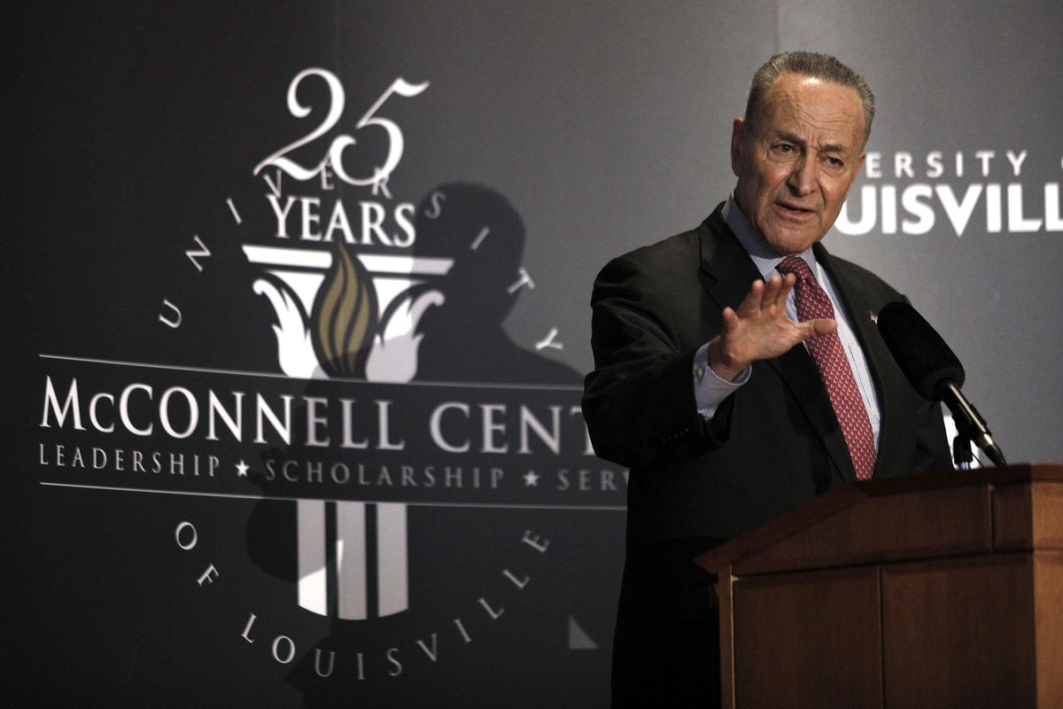 Senate Democratic Leader Chuck Schumer Speaks At The University Of Louisville's McConnell Center