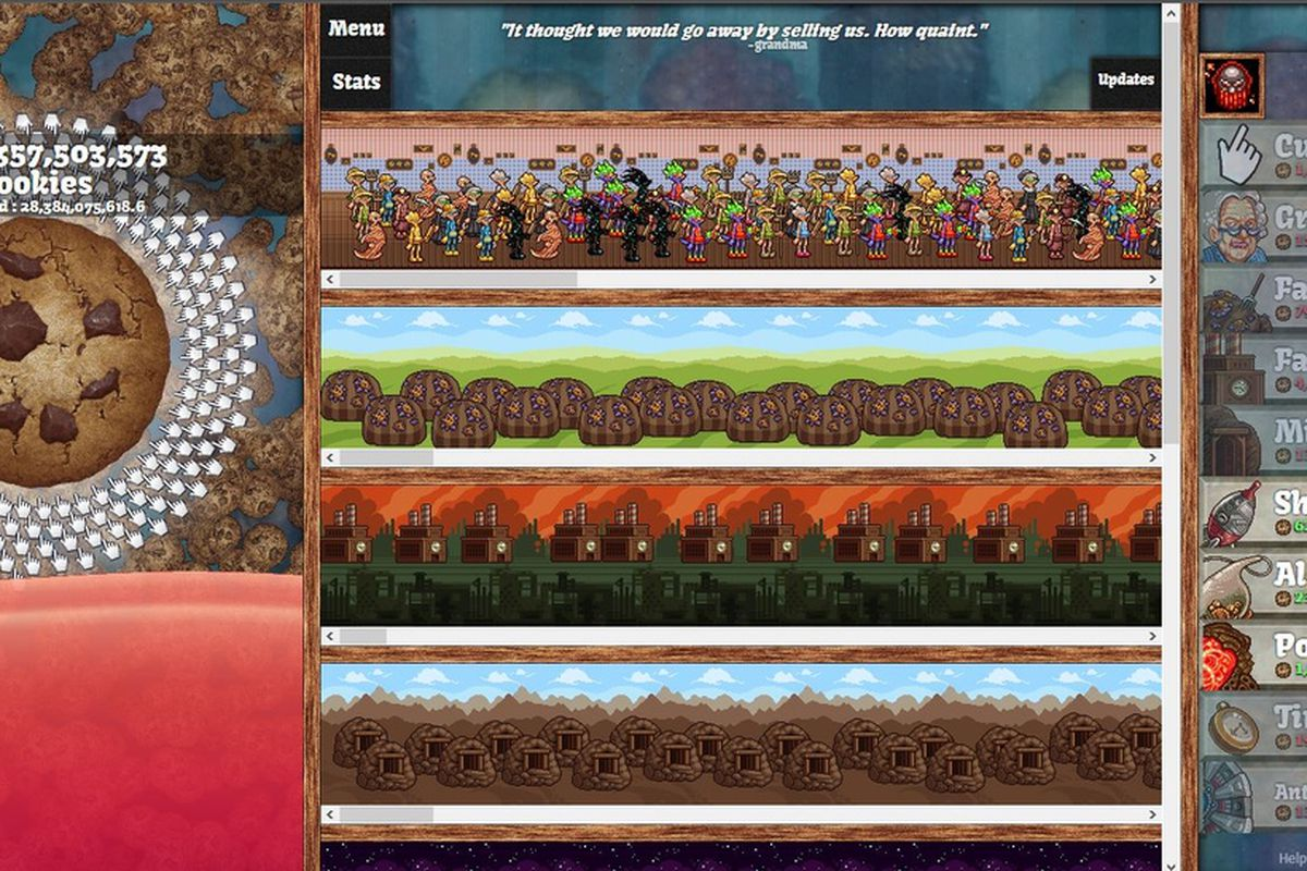 The Cult Of The Cookie Clicker When Is A Game Not A Game Polygon - Minecraft clicker spiele