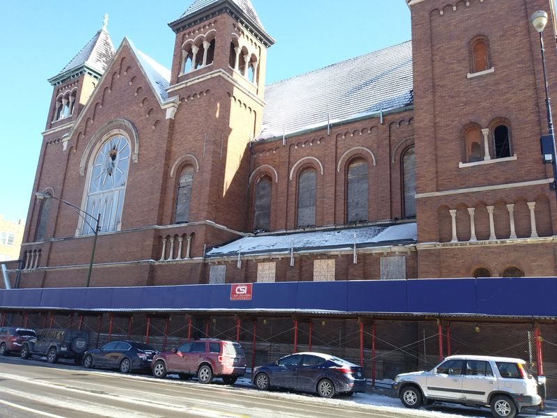 The former St. Boniface Church as it appeared Friday along Noble Street.