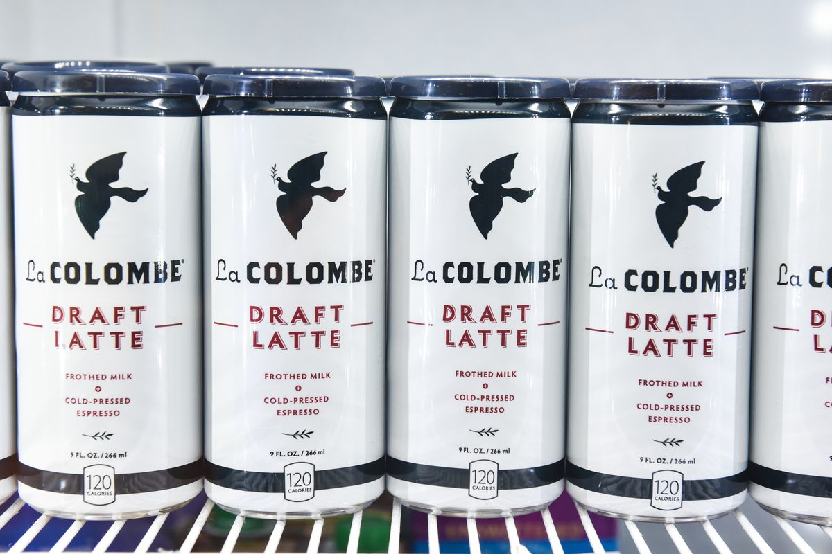 Draft latte cans