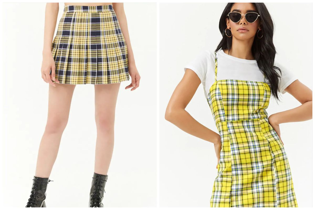 cher's yellow plaid outfit from clueless is now at forever
