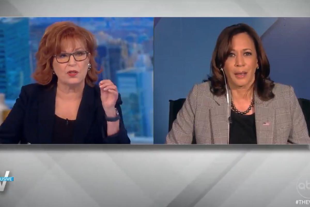 """The View"" host Joy Behar interviews Vice President Kamala Harris on Friday, Sept. 24, 2021."