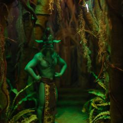 Emeraude fiercely guards the Emerald Forest.