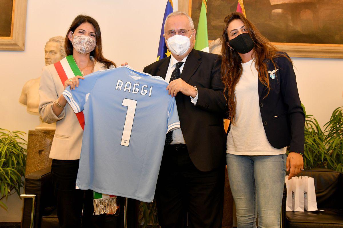 Mayor Of Rome Virginia Raggi Meets SS Lazio Women