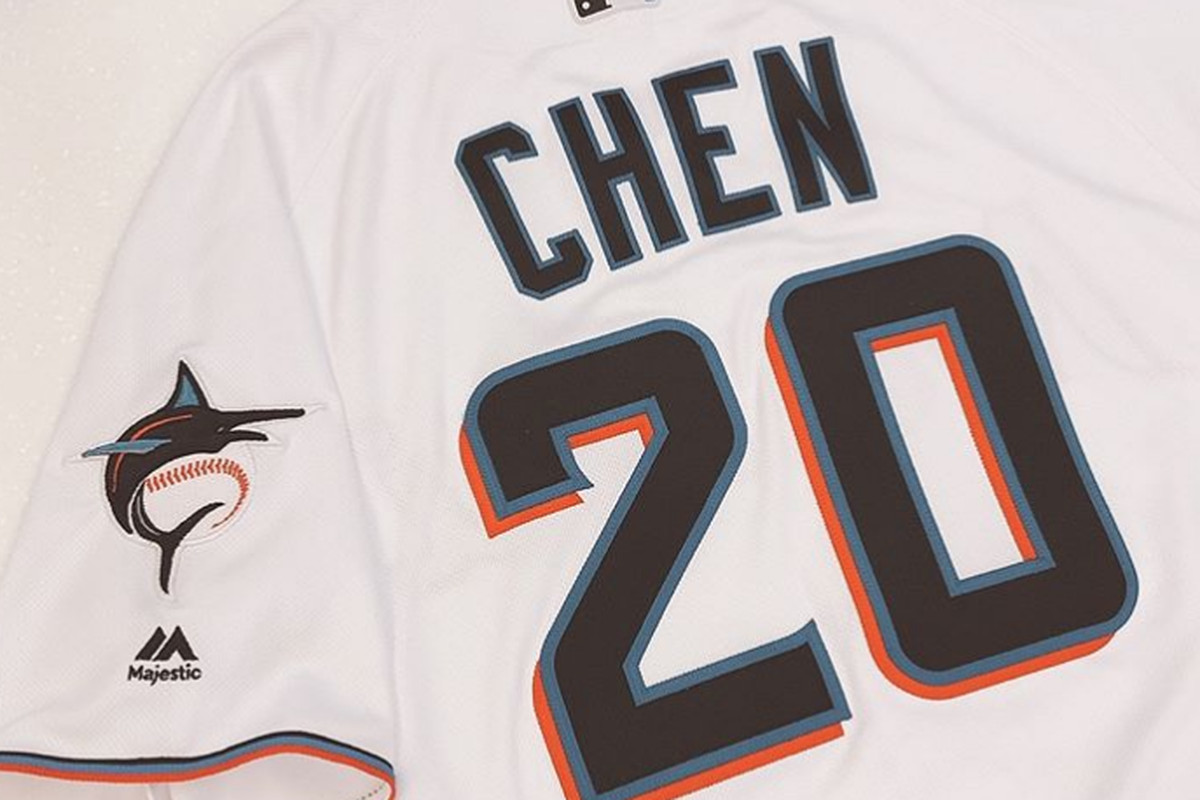 online store e95aa 88778 Wei-Yin Chen trolls Marlins, changes uniform number to match ...