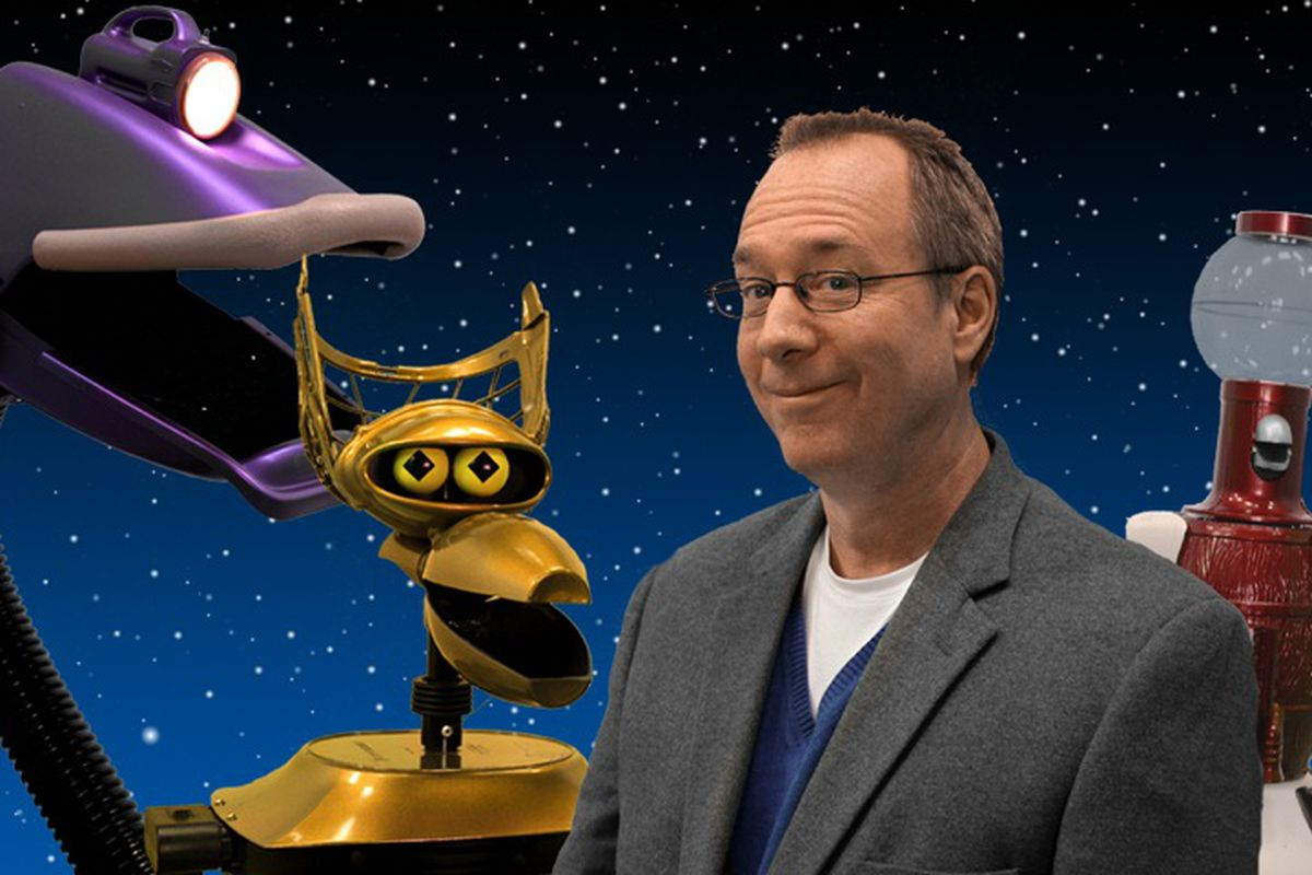 Joel Hodgson took this photo with the help of his robot friends.