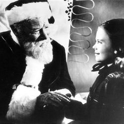 """Edmund Gwenn and Natalie Wood in the 1947 version of """"Miracle on 34th Street."""""""