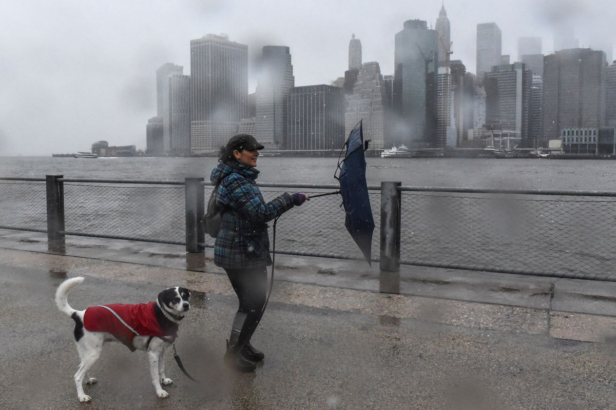 Large Coastal Storm Brings High Waters And Strong Winds To Northeastern Seaboad