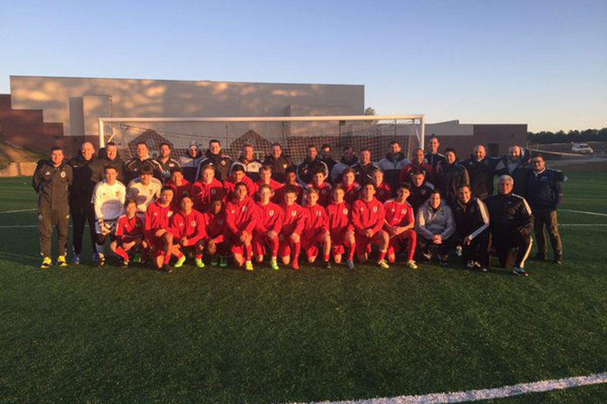 Georgia United players trained in front of MLS academy coaches and FFF teachers