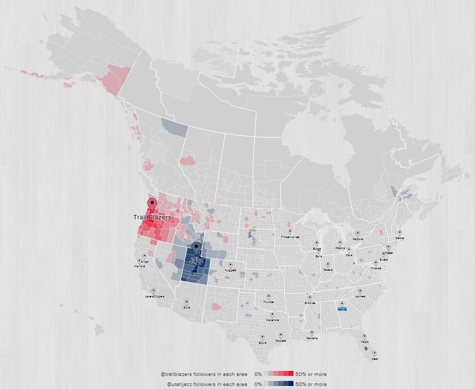 2015 2016 Fanbase Map Portland Utah