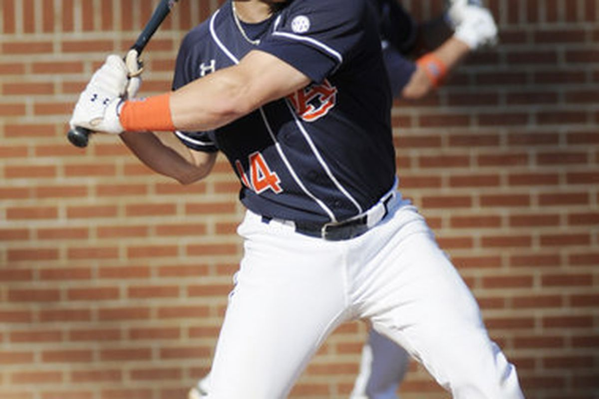 Auburn catcher Tony Caldwell hit three homeruns and 10 RBI's in the Tigers' three game sweep of the Kentucky Wildcats.
