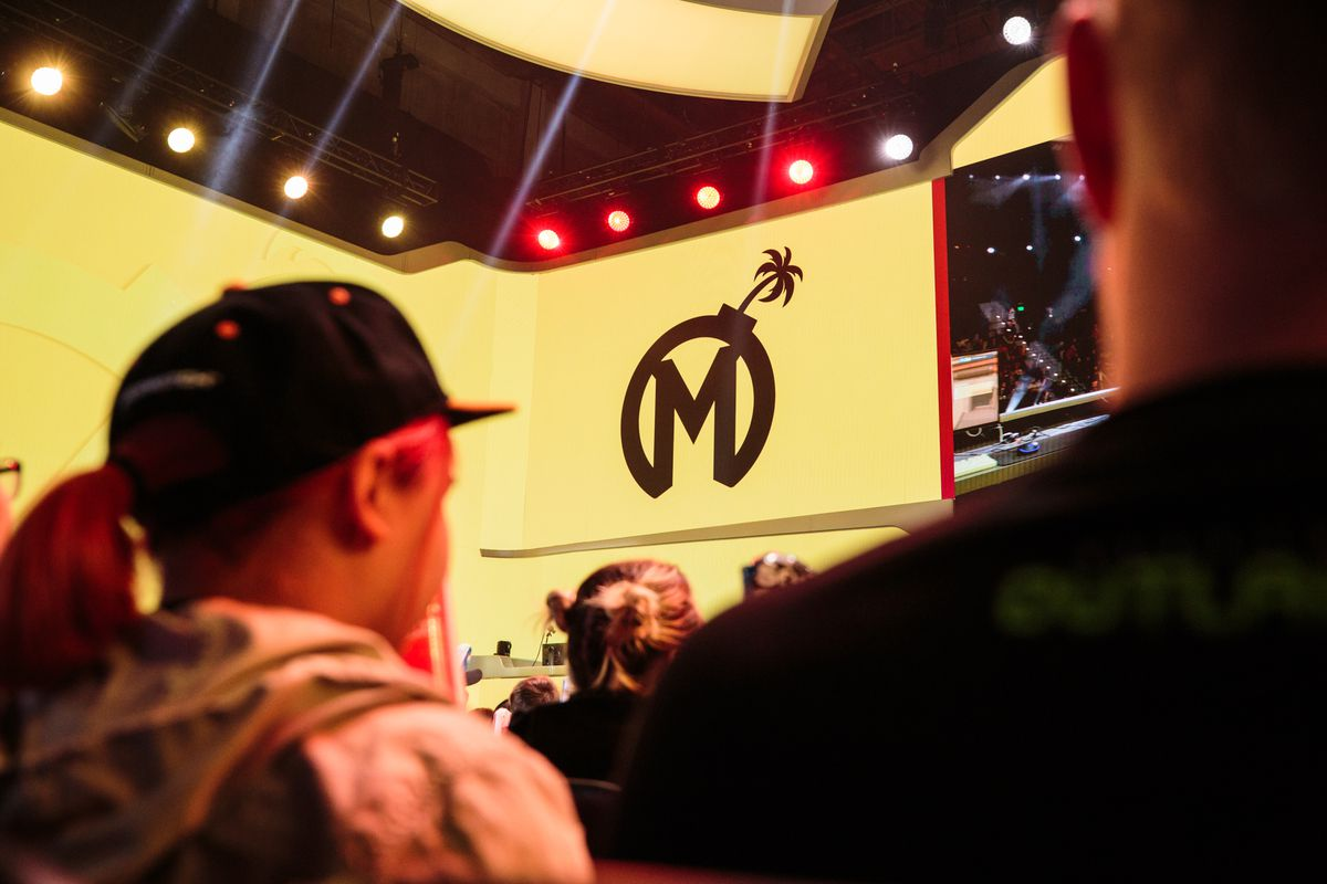 The Florida Mayhem on stage at the Blizzard Arena