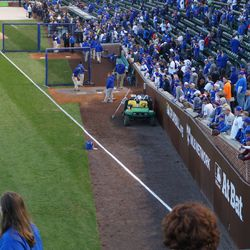 View of the Cubs bullpen