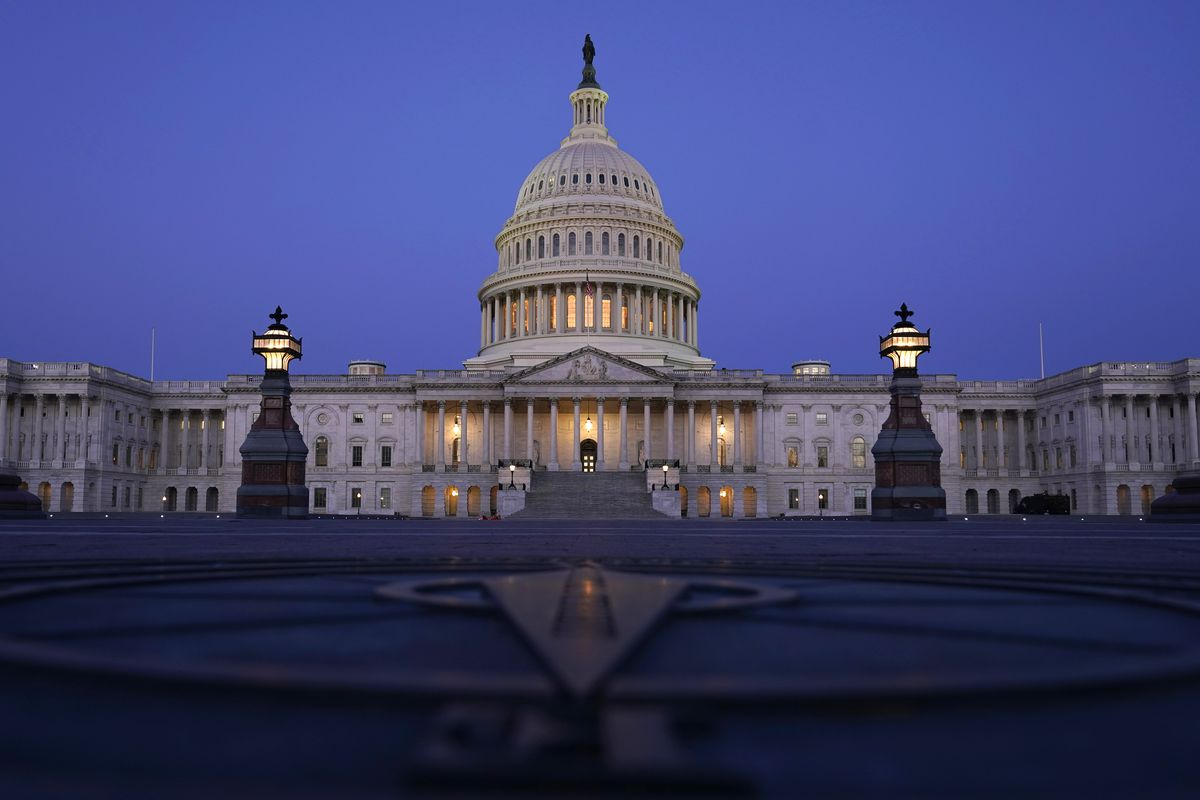 In this March 5, 2021, file photo The Capitol is seen just before sunrise in Washington. The state across the South are the center of the upcoming once-a-decade redistricting battle. The region is the fastest-growing in the country and as a result will be adding an estimated half-a-dozen House seats.