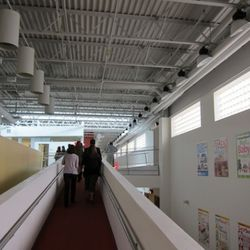Walking up the ramp from the main entrance at Consumer Reports