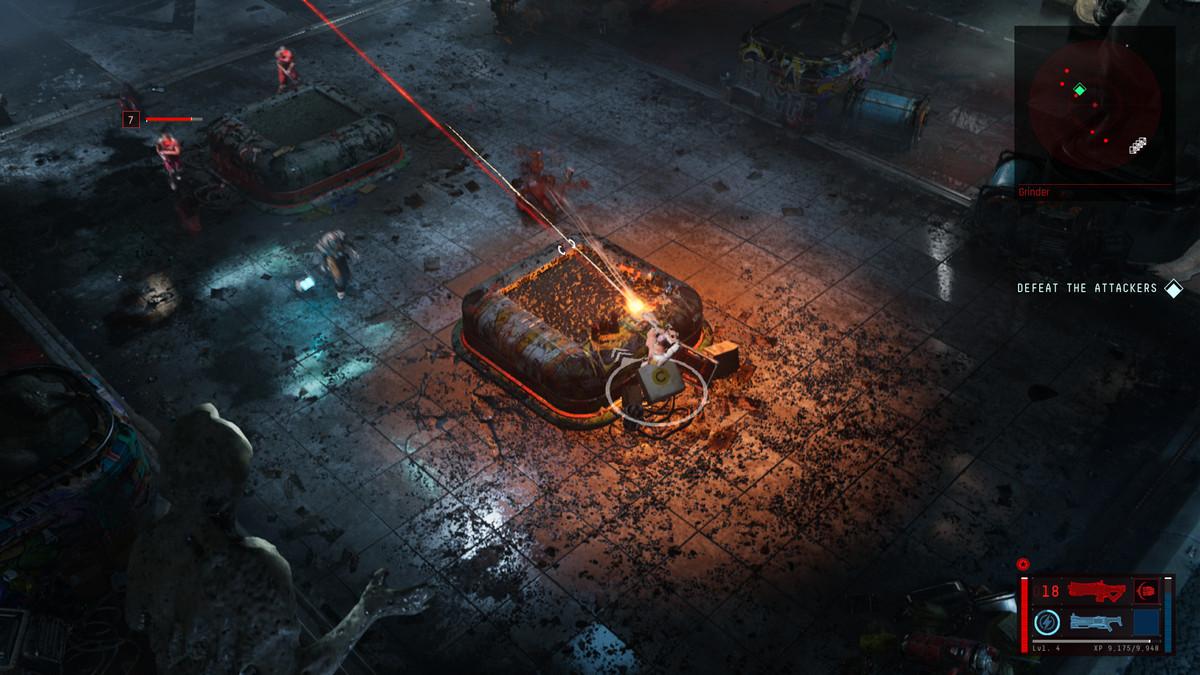 Uma cena de combate em The Ascent