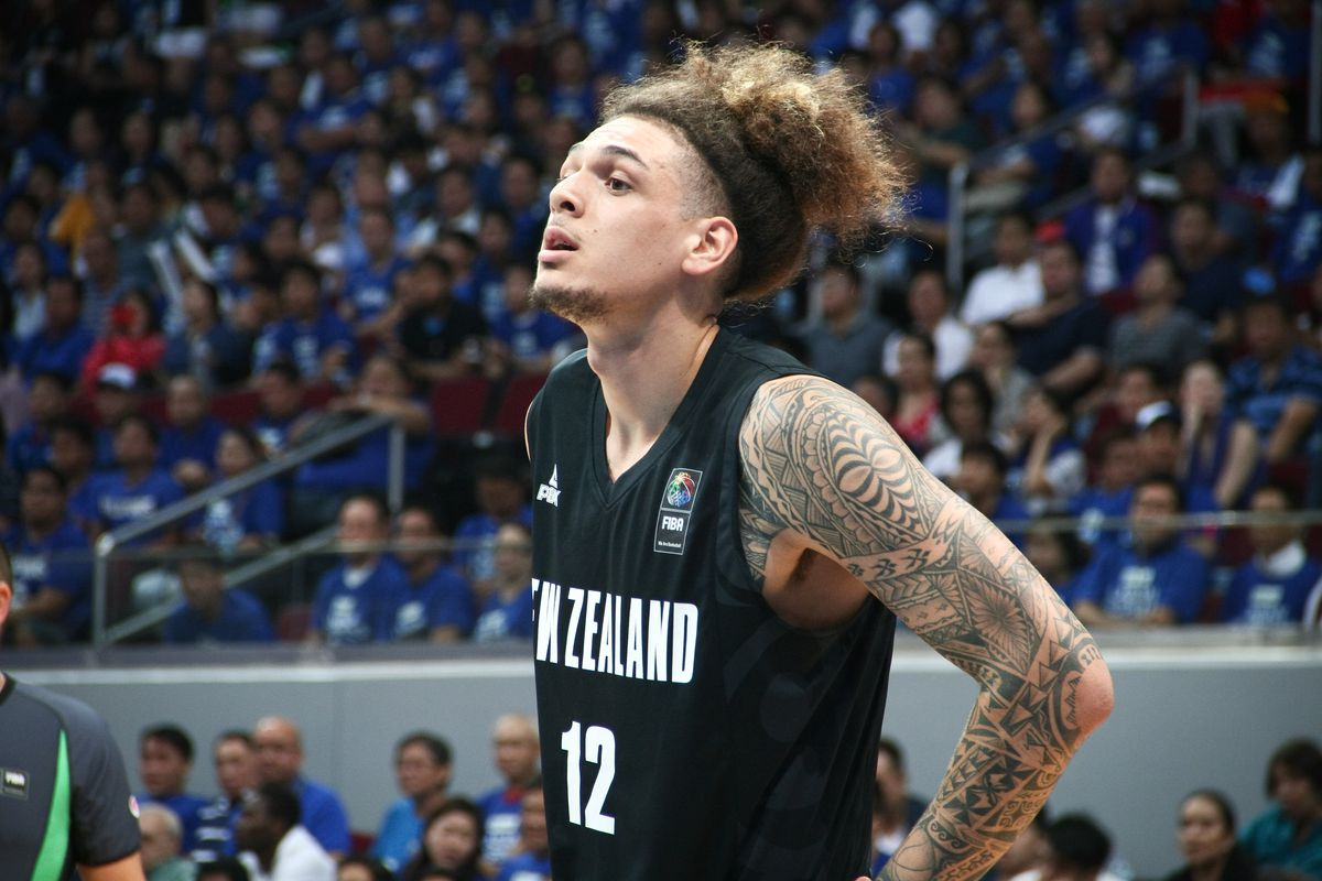 Isaac Fotu looks on after being called on a foul. New...
