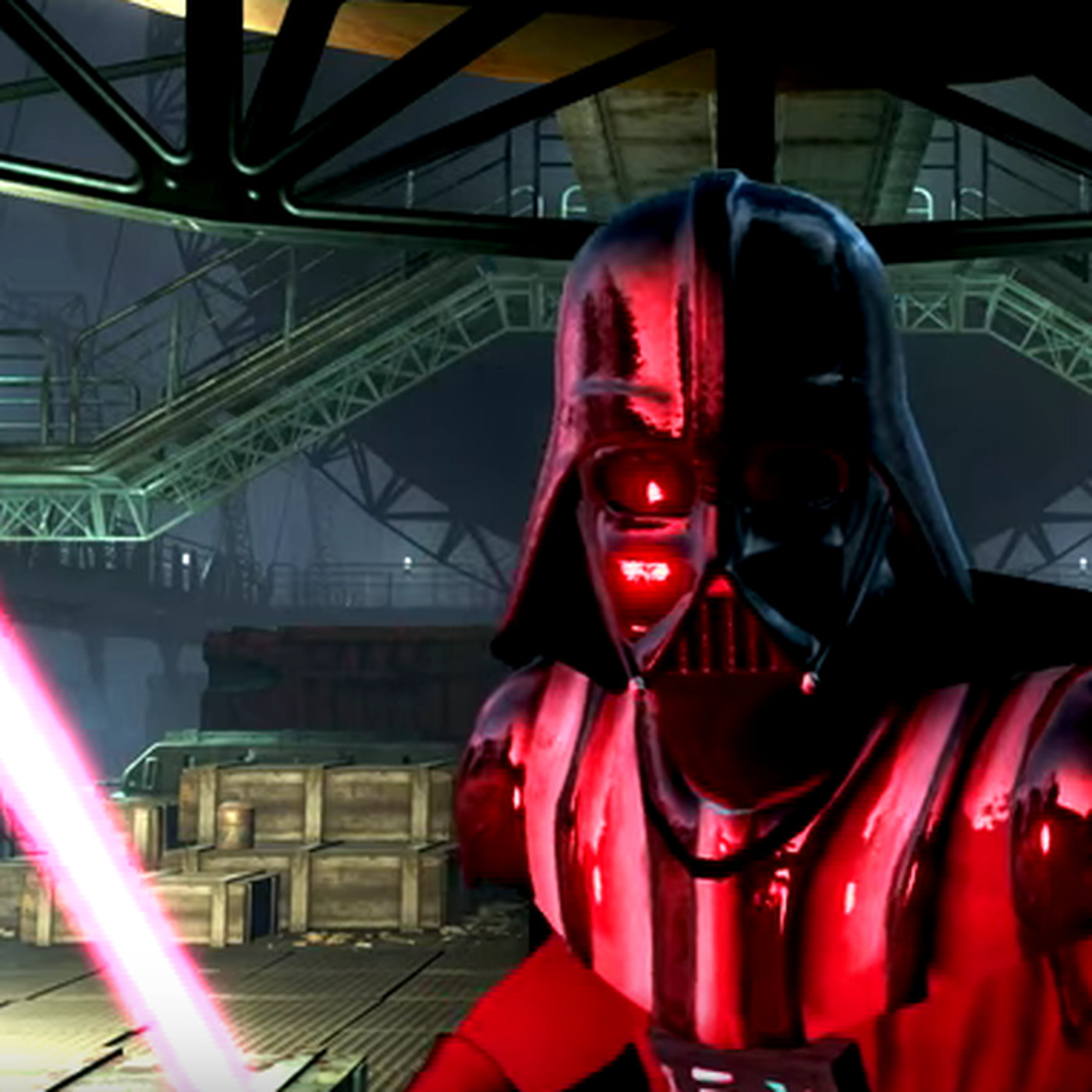 Watch Darth Vader and Luke Skywalker duel with lightsabers in