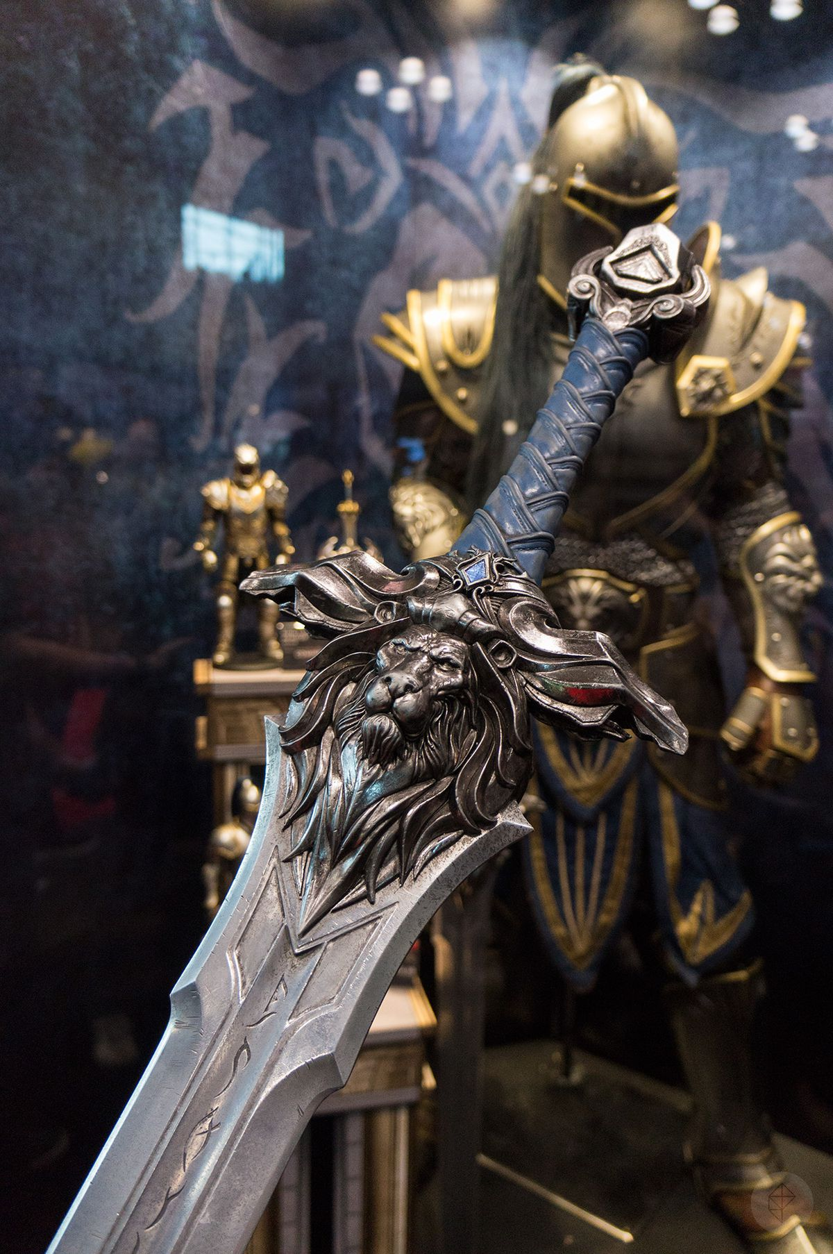 the hilt, crossguard, and lower part of an Alliance sword at the Weta Workshop booth at NYCC 2015