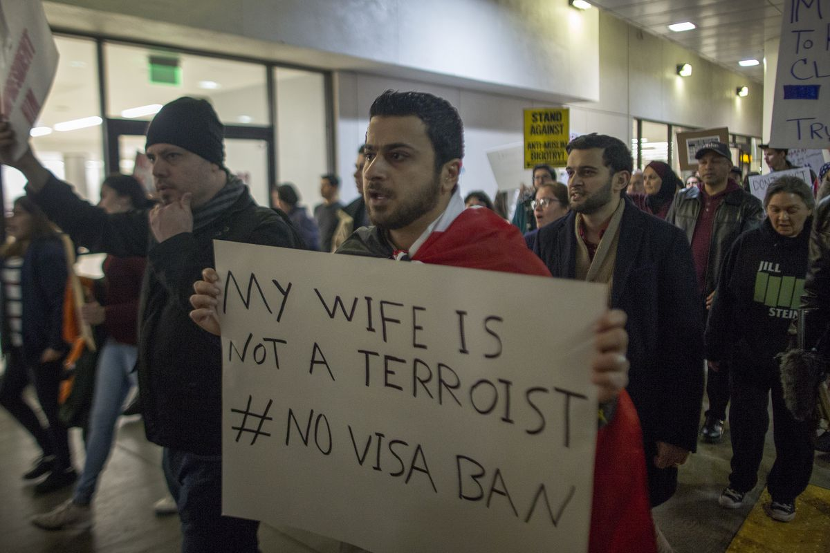 Demonstration Against Trump's Immigration Ban Takes Place After Ruling Was Overturned By State Dept.