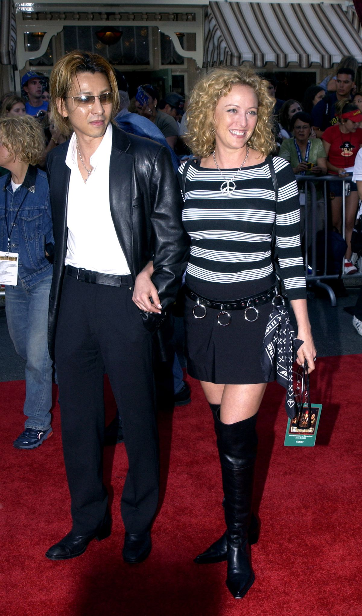 Virginia Madsen and Yoshiki at the Pirates of the Caribbean premiere