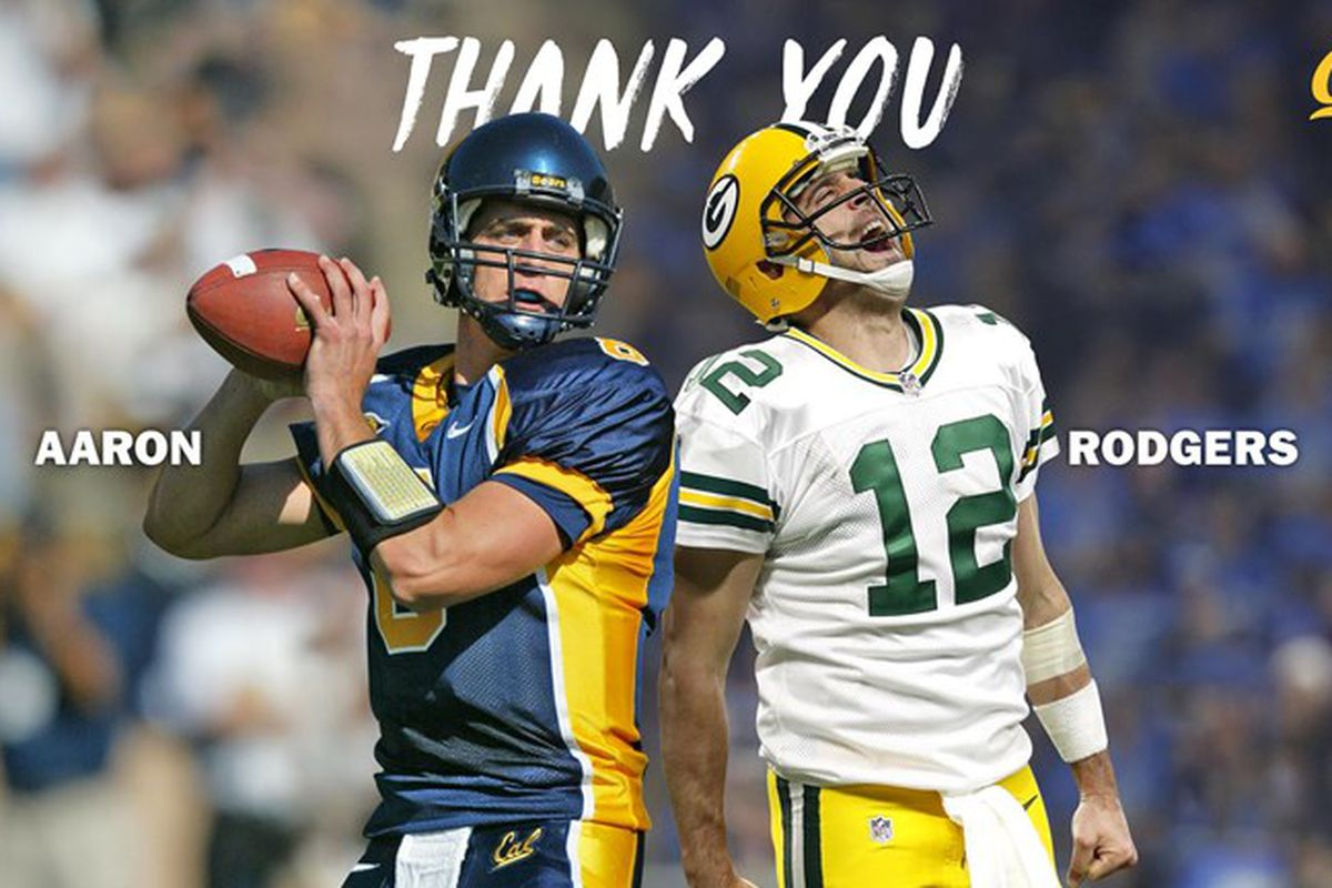 new concept 84758 9d401 Aaron Rodgers gifts seven-figure donation to Cal Football ...