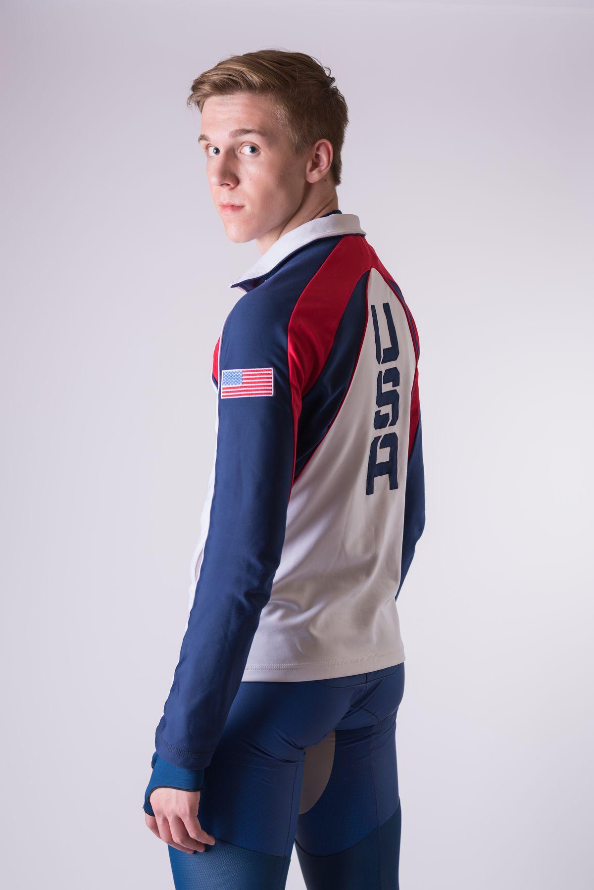 Conor McDermott-Mostowy skates for Team USA