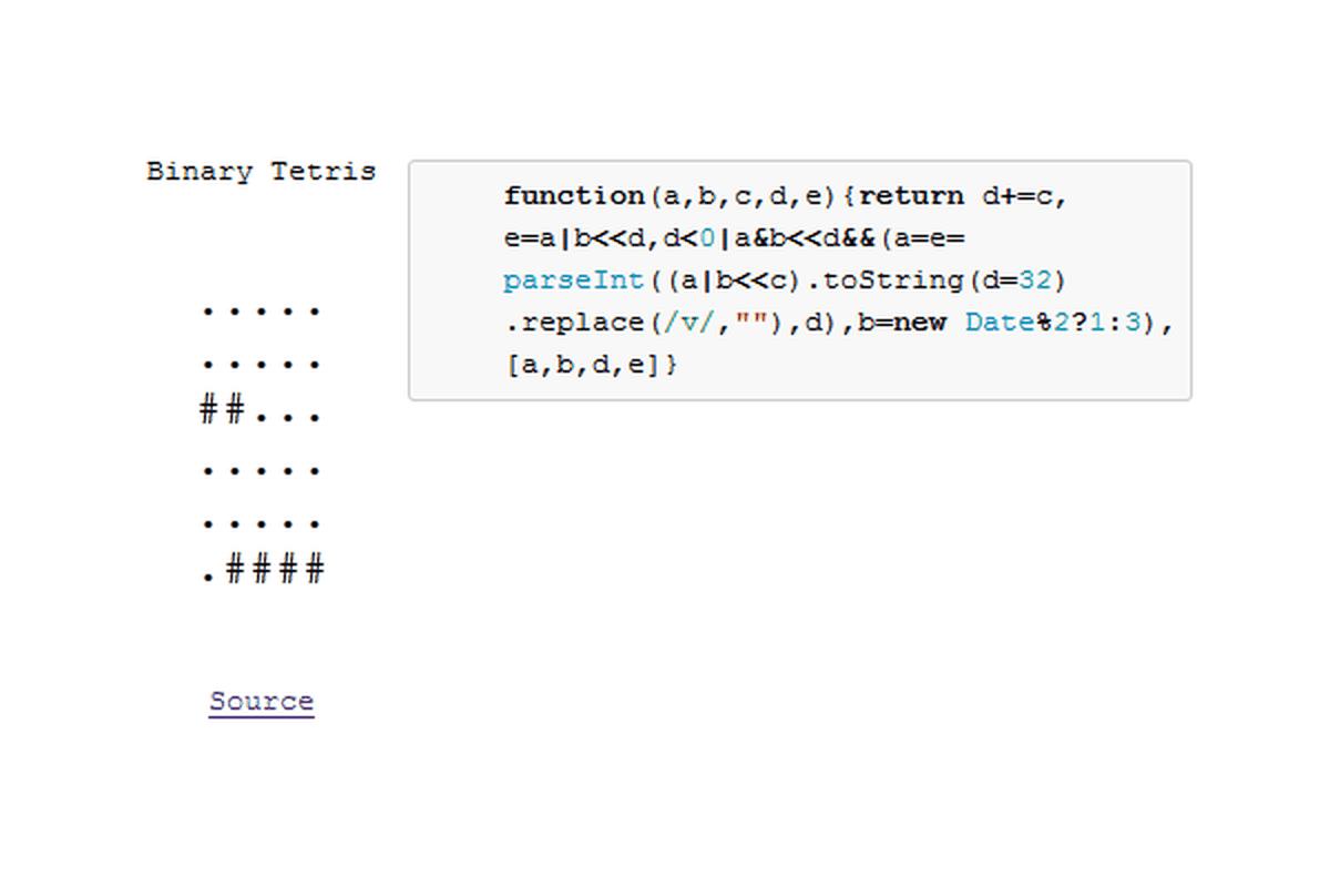 Binary Tetris