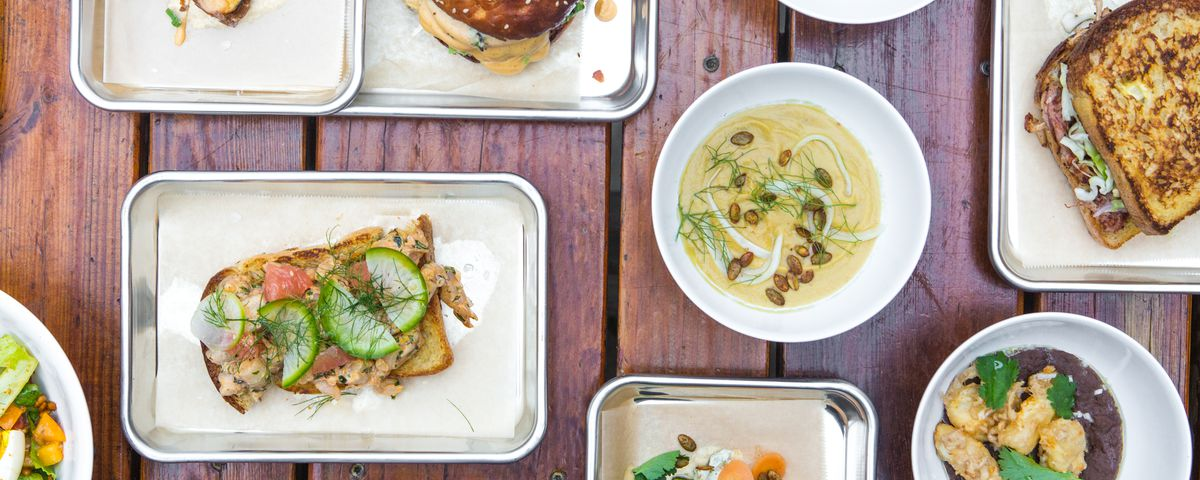 The food array from Sour Duck Market