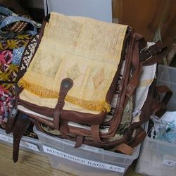 Beach and messenger bags, $75