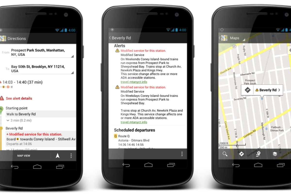 Nyc Subway Map Google Map.Google Maps Now Shows Service Alerts For The New York City Subway