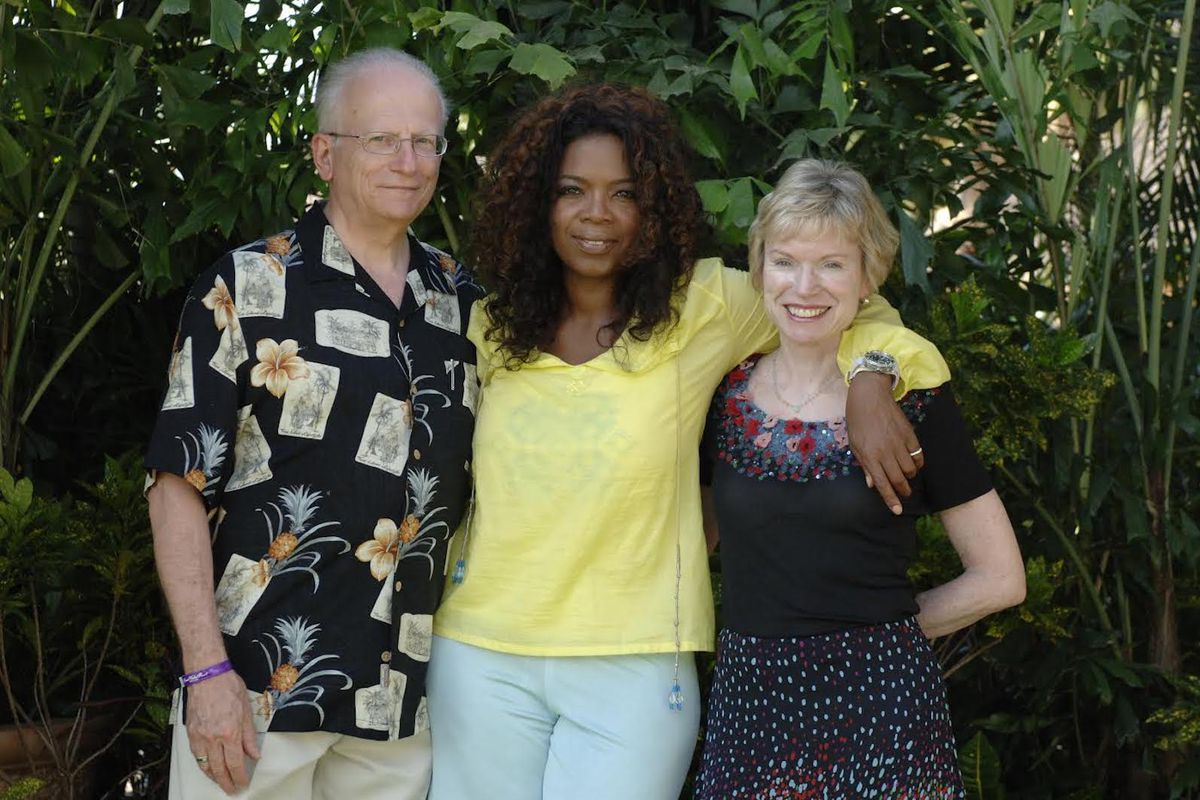 Bill Becker and his wife Maureen (far right) during a trip to Hawaii with Oprah Winfrey.