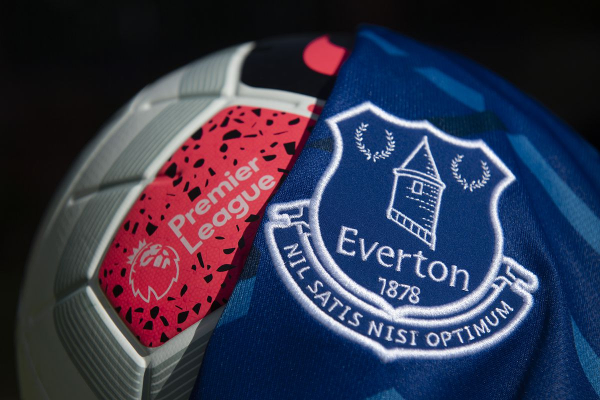 The Everton Club Badge and Premier League Match Ball