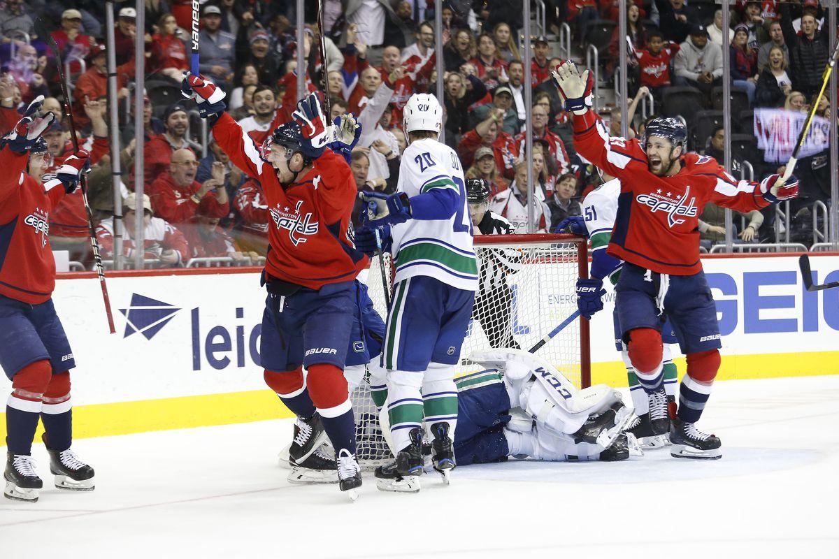 NHL: Vancouver Canucks at Washington Capitals