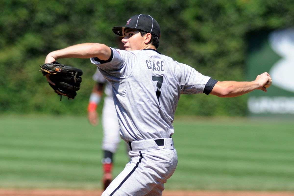 2014 Cubs sixth-round pick Dylan Cease pitches in the 2013 Under Armour All-America Game at Wrigley Field. Perhaps we'll see him doing this in a Cubs uniform in a few years