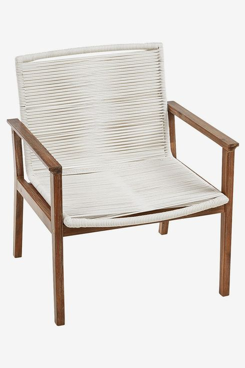 Wood and rope chair.