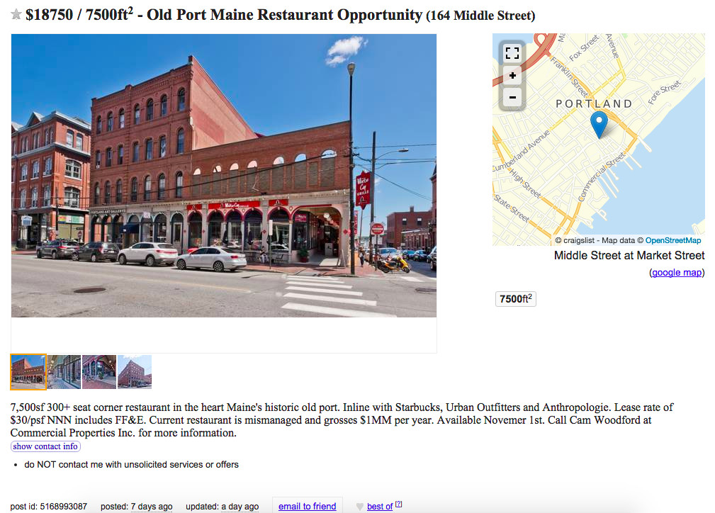 Mismanaged' White Cap Grille in Portland Hits the Market for
