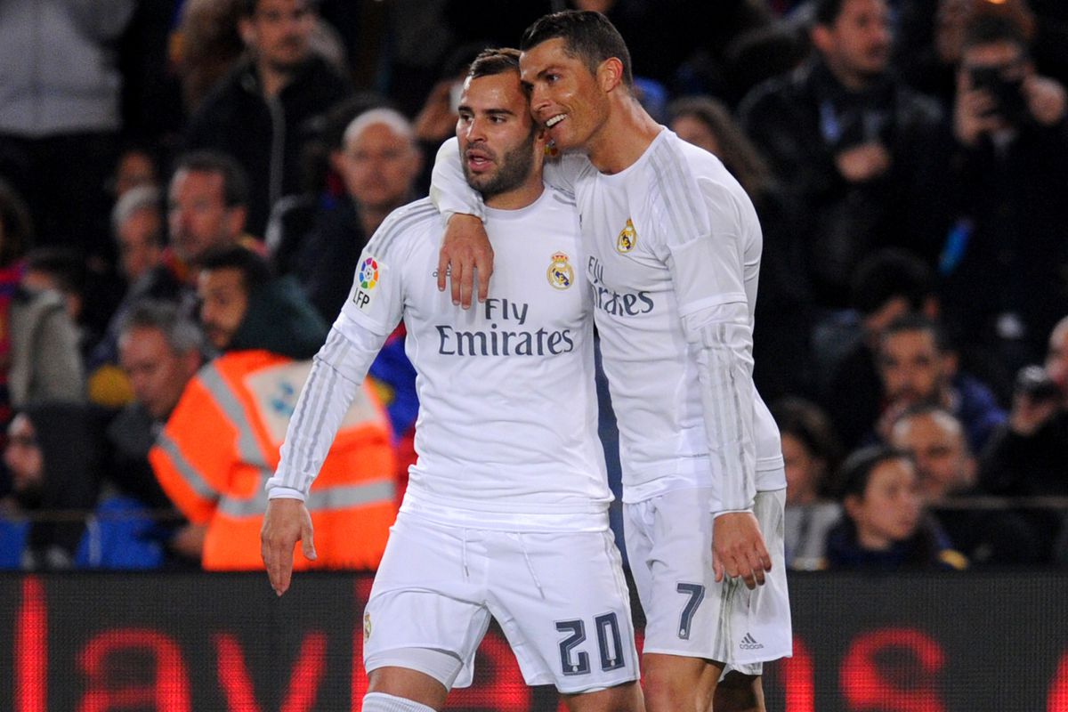 Ronaldo, right, with teammate Jesé during Saturday's match.