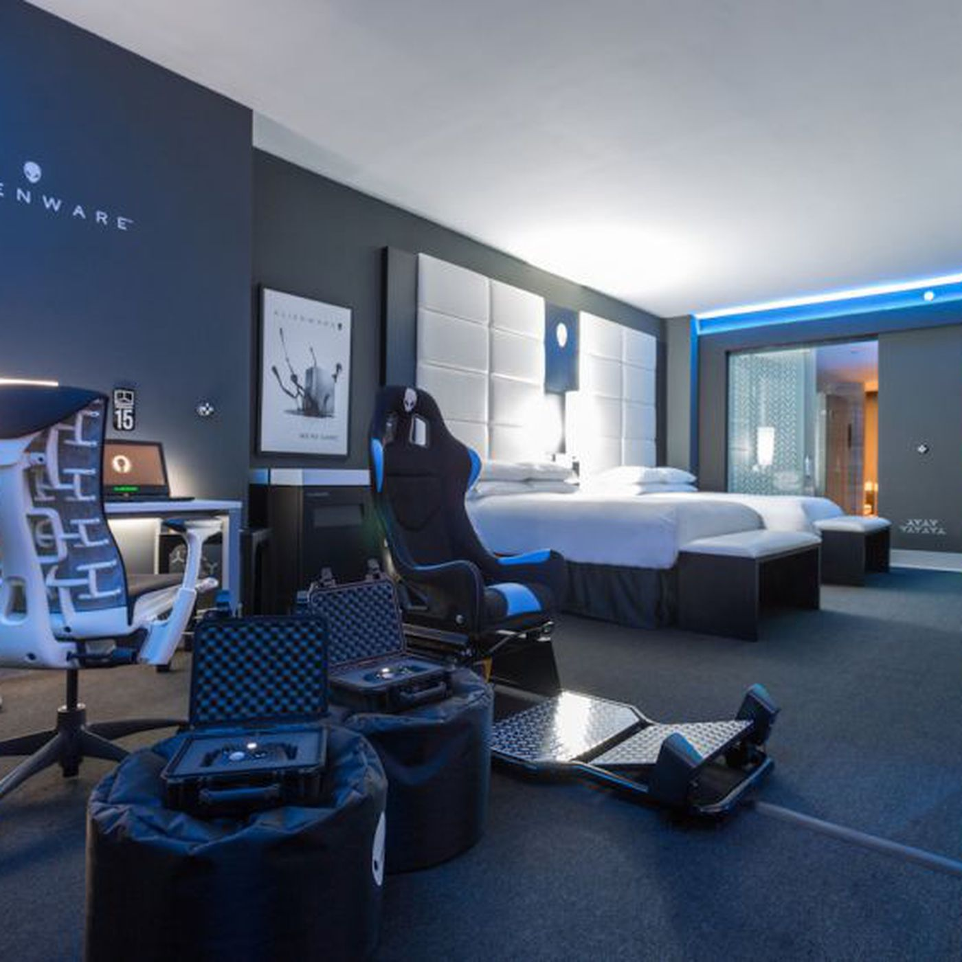 Alienware Built A Decadent Gaming Hotel Room At The Hilton Panama The Verge