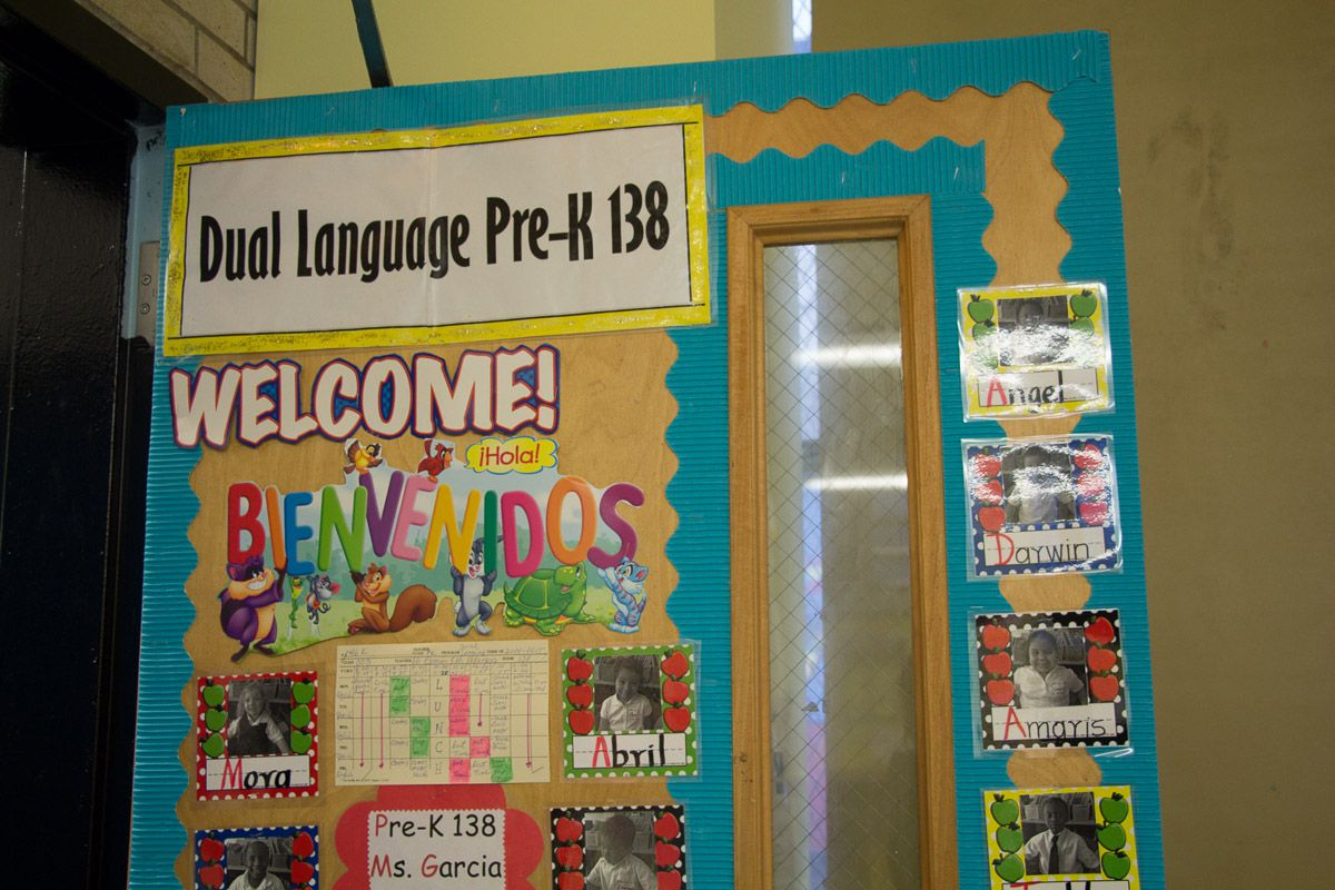 A dual-language pre-K classroom at P.S. 46 in Brooklyn.