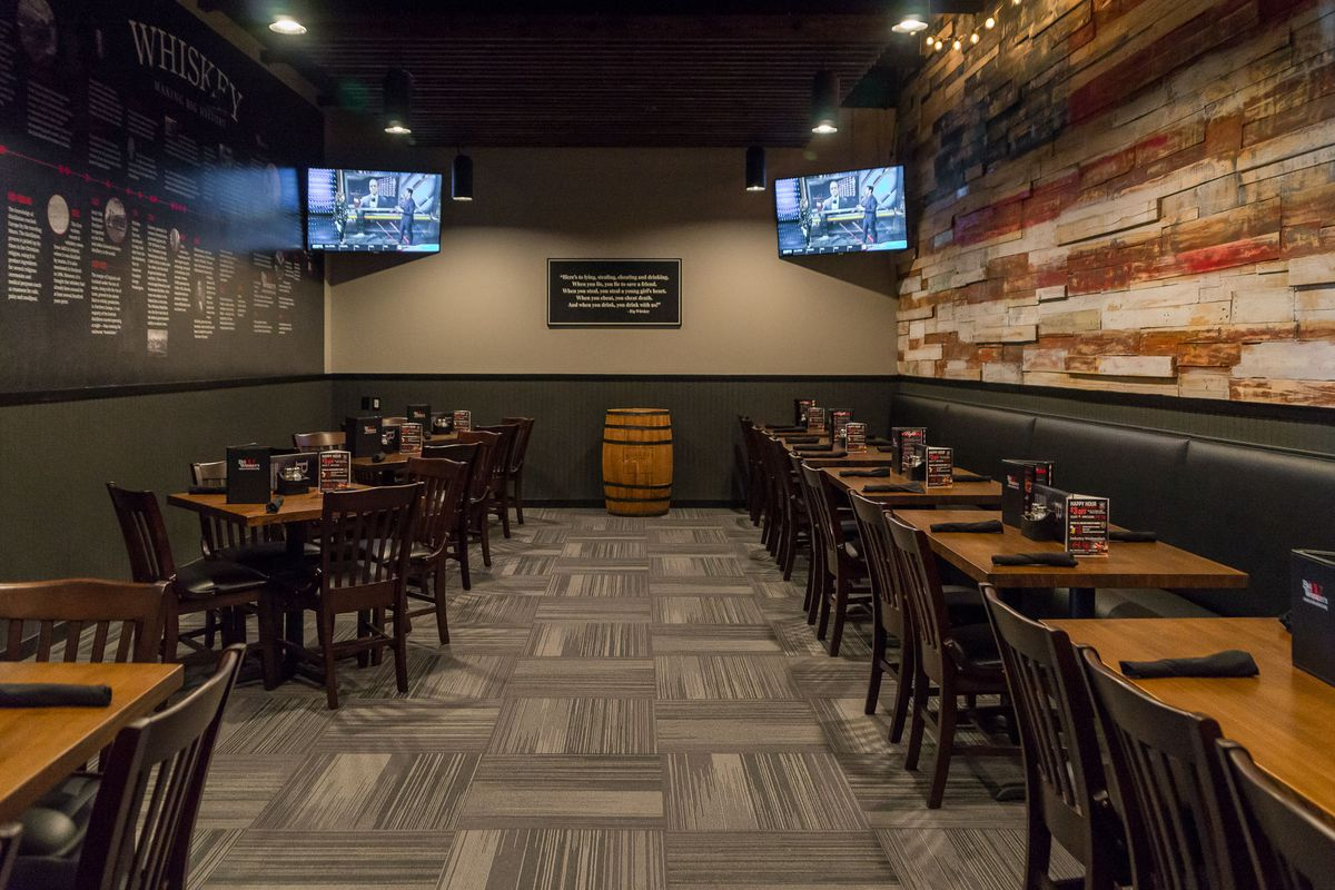 The private dining room at Big Whiskey's American Restaurant & Bar