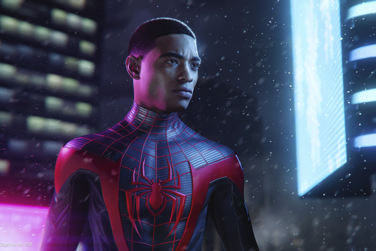 an unmasked Miles Morales as Spider-Man
