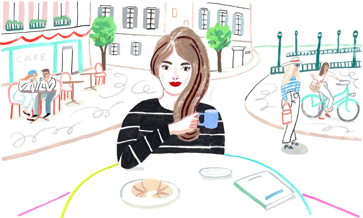 An illustration of the stereotypical French Girl
