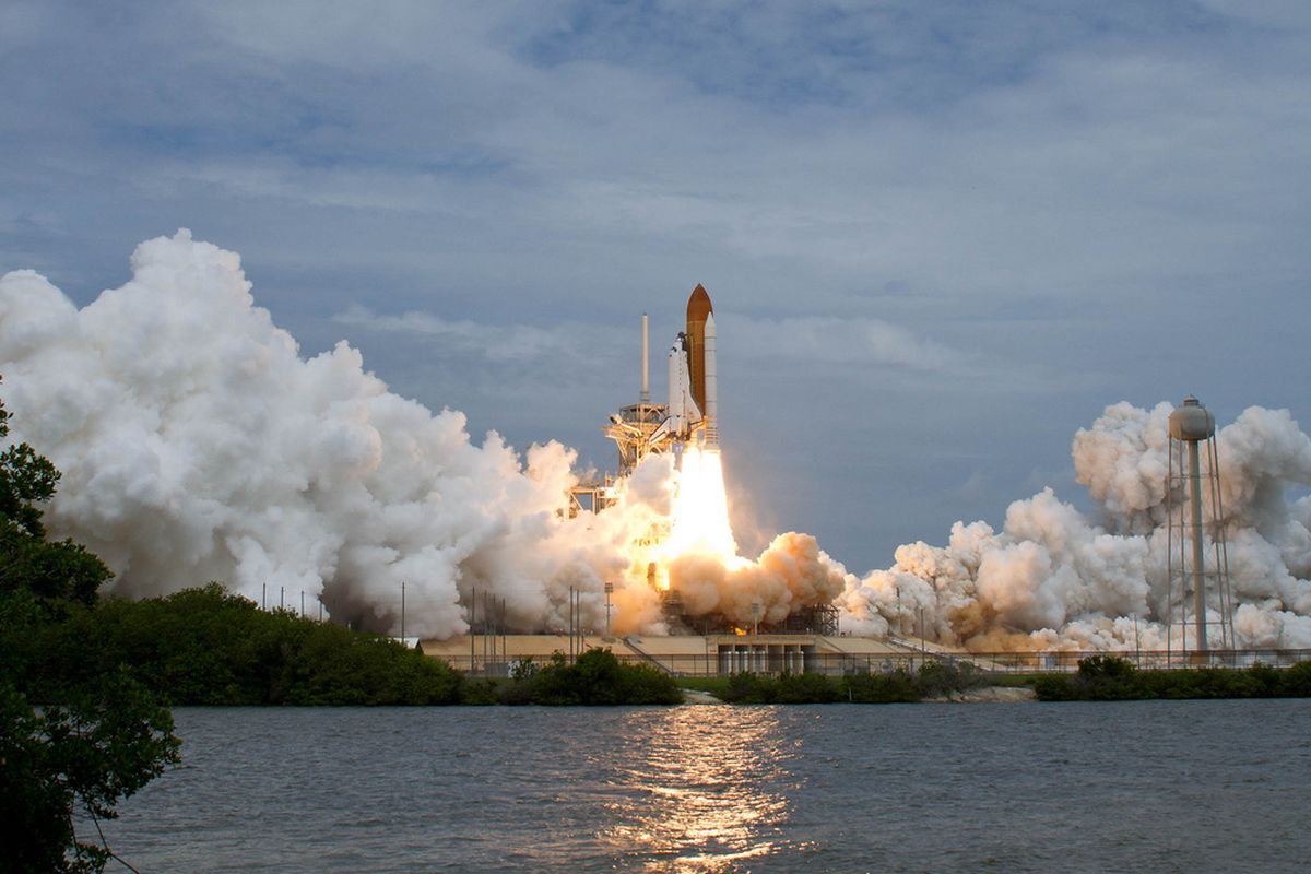 The Space Shuttle Atlantis blasts-off, the final shuttle flight in history, August 2011