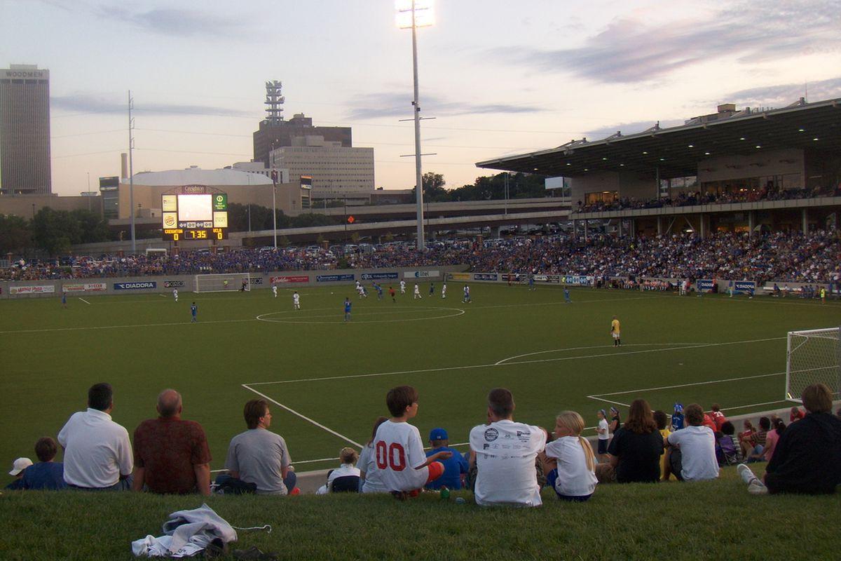 Morrison Stadium, the dandy home of Creighton's successful soccer program.