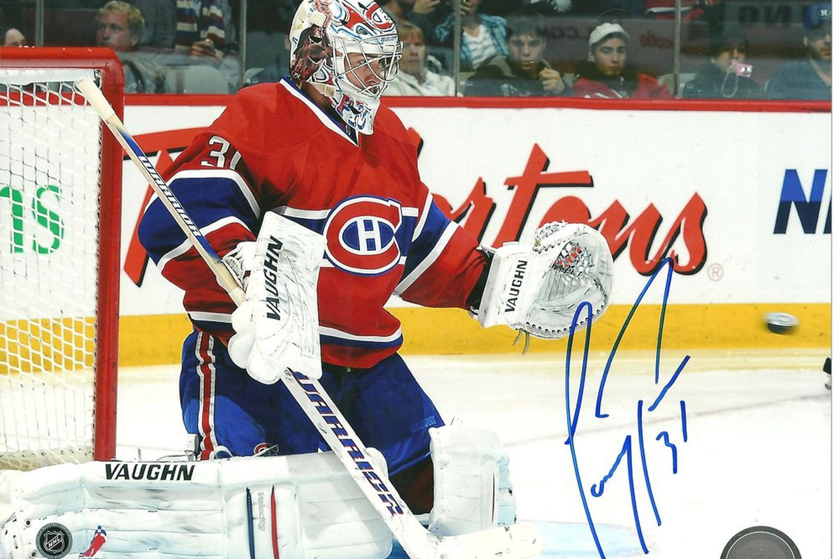 Win this Carey Price auto'd 8X10 by following us on Twitter of joining our Facebook page!