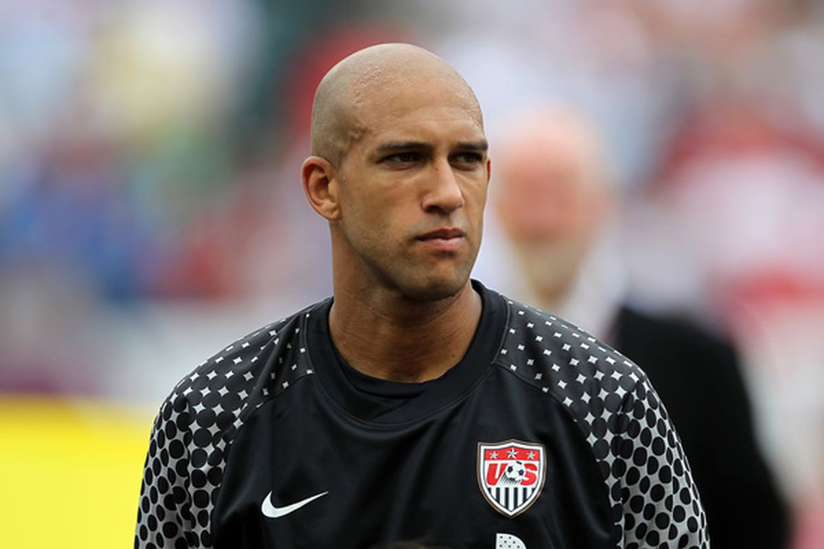Tim Howard: The Chris Carpenter of goalkeepers. (Photo by Hunter Martin/Getty Images)