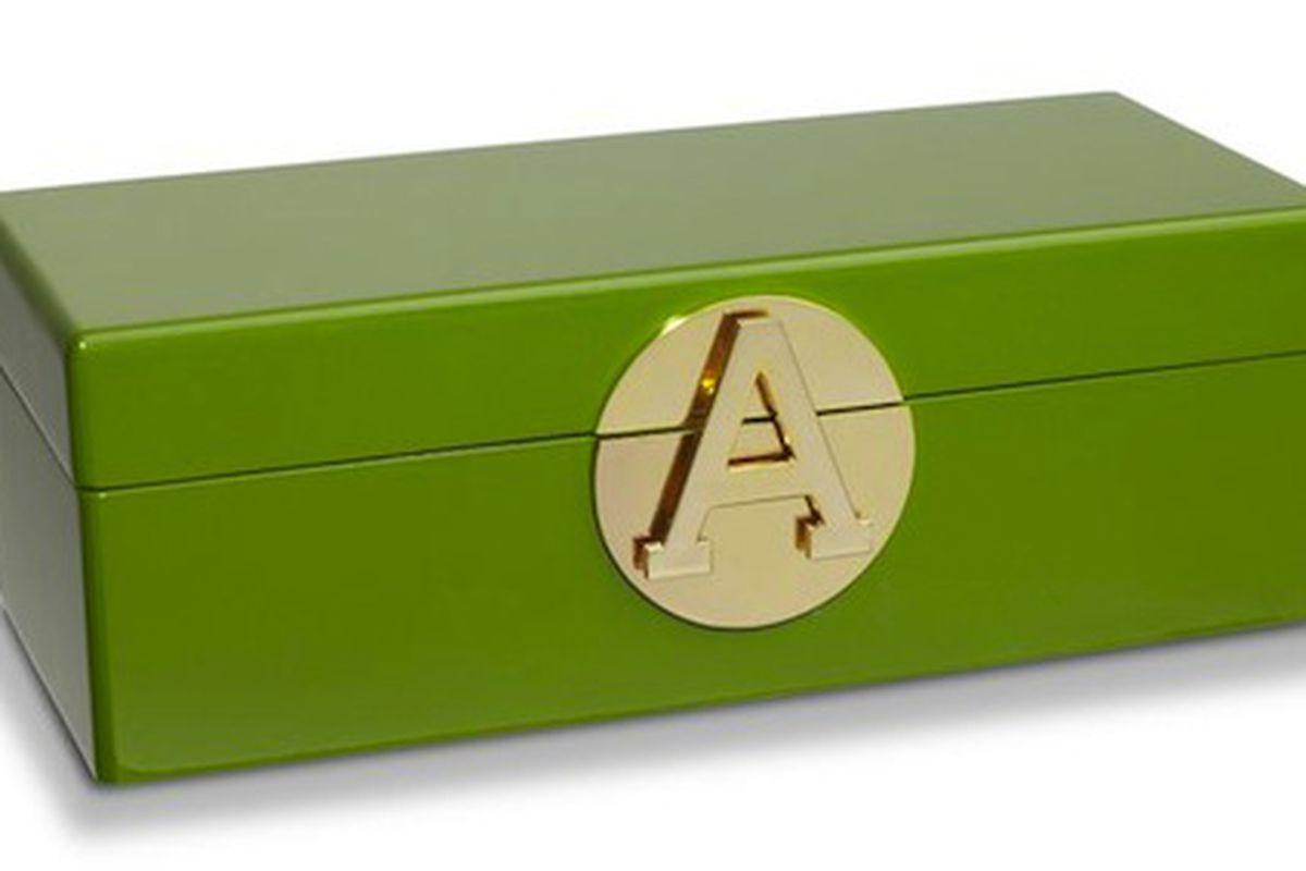 "C. Wonder's <a href=""http://www.cwonder.com/monogram-jewelry-box-64.html"">Monogrammed jewelry box</a>"