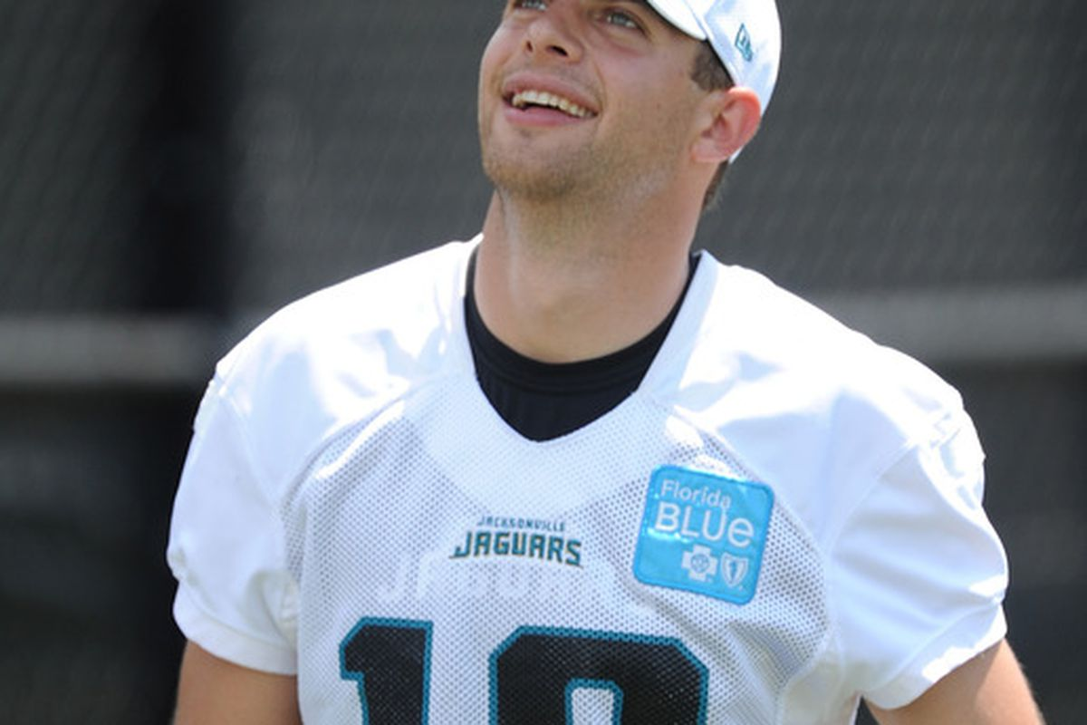 JACKSONVILLE, FL - MAY 05: Punter Bryan Anger # 19 during Jacksonville Jaguars Minicamp at EverBank Field on May 5, 2012 in Jacksonville, Florida (Photo by Rick Dole/Getty Images)